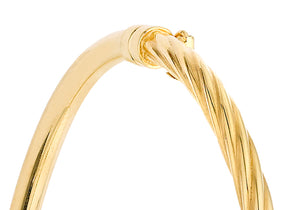 9ct Yellow Gold Half Twist Bangle