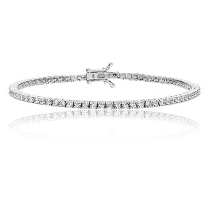 Sterling Silver CZ fine 2mm Tennis Bracelet