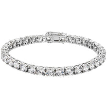 Load image into Gallery viewer, Sterling Silver Large CZ Tennis bracelet