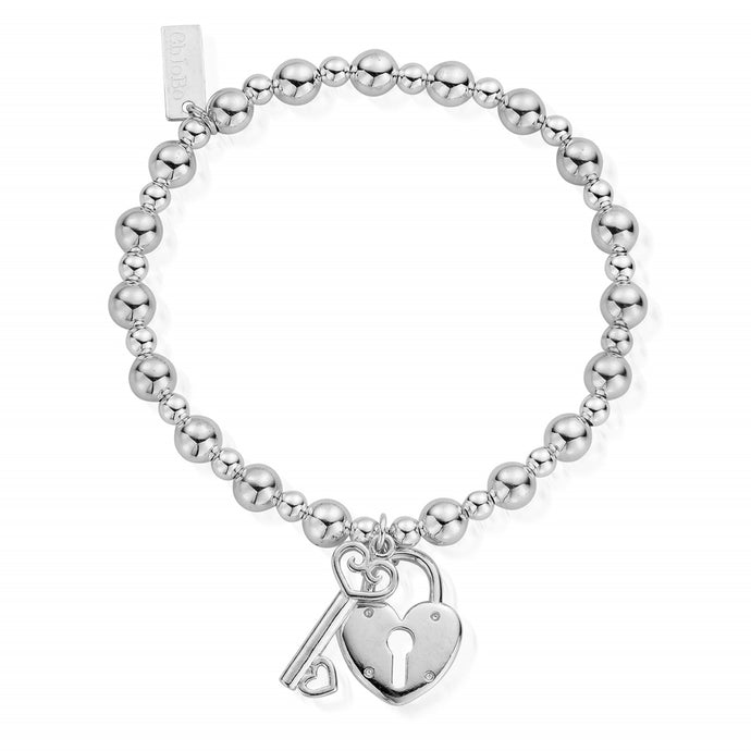 ChloBo Mini Small Ball Lock & Key Bracelet