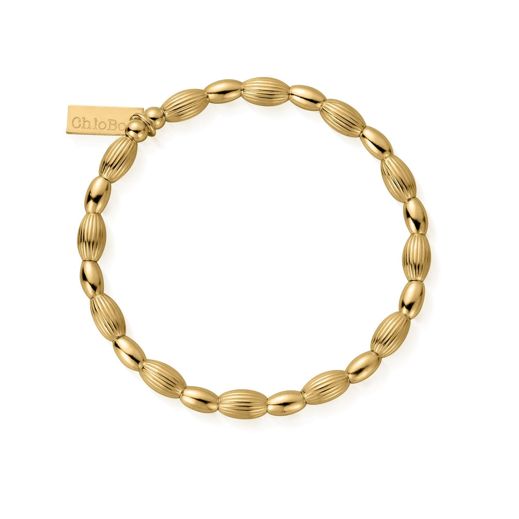 ChloBo Gold Plated Double Rice Bracelet