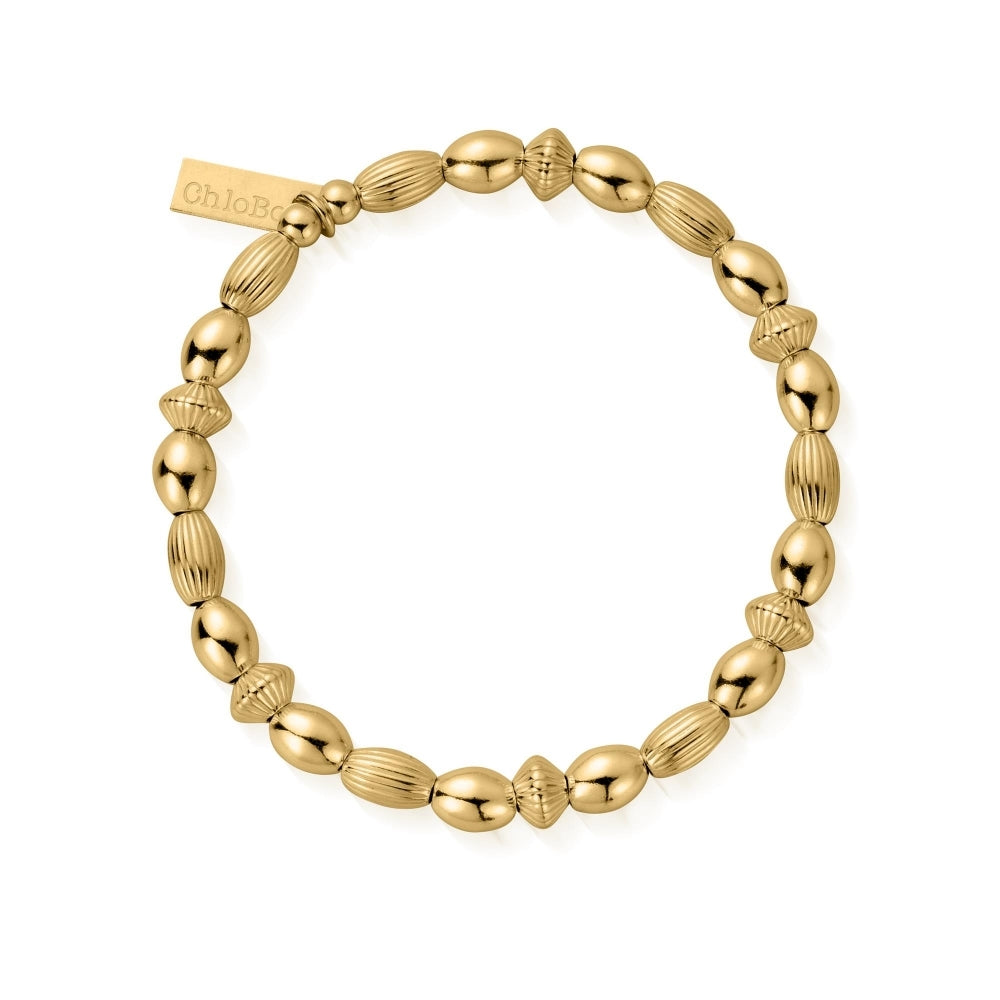 ChloBo Gold Plated Mini Oval Bracelet