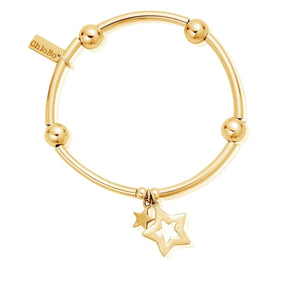 chlobo Noodle Ball Double Star Bracelet yellow gold plate