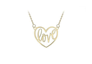9ct Yellow Gold 'LOVE' Heart necklace