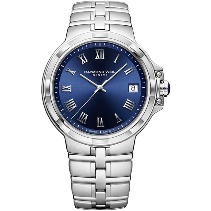 Raymond Weil Parsifal Men's Quartz Classic Blue Dial Bracelet Watch, 41mm