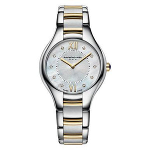 Noemia Ladies Quartz Two-Tone Gold PVD 10 Diamond Watch, 32mm