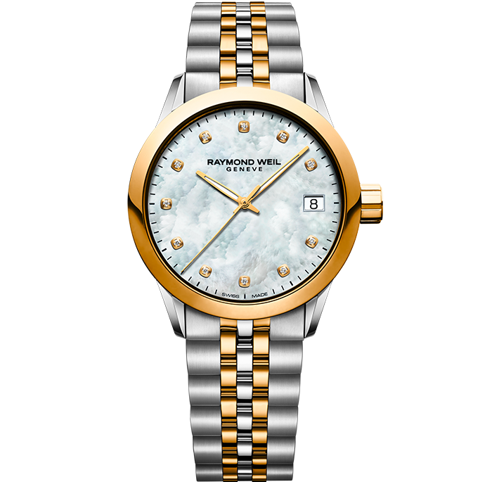Raymond Weil Freelancer Ladies Two-Tone Gold Diamond Watch