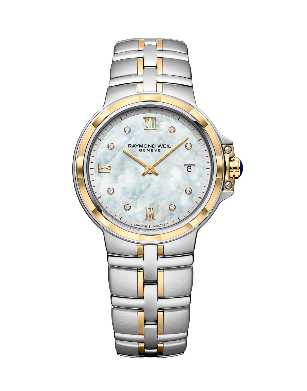 Raymond Weil Parsifal Two-Tone Diamond Dial Watch.