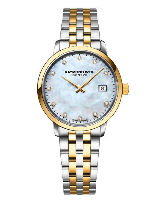 Toccata Ladies 29mm, Quartz, Two-Tone, MOP Dial, 11 Diamonds