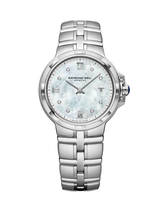 Parsifal Ladies 30mm, MOP dial, 8 Diamonds