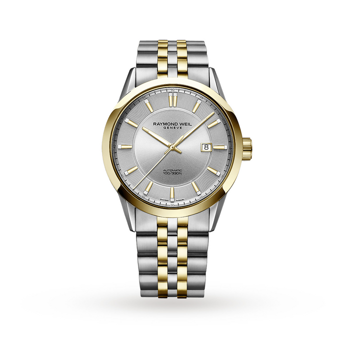 Freelancer Men's Automatic Classic Two-Tone Yellow Gold PVD Date Watch, 42mm