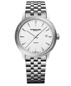 Raymond Weil Maestro Men's Automatic White Dial Watch, 40mm