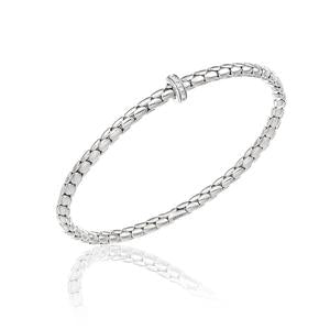 Chimento 18ct White Gold & Diamond Stretch Spring Bracelet