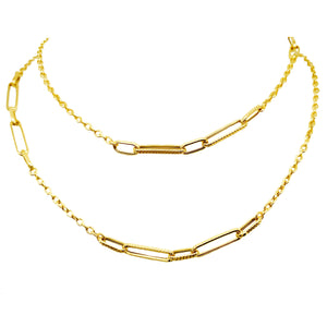 9ct Gold Link and Chain Necklace