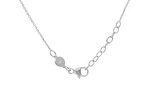 Load image into Gallery viewer, 9ct White Gold Double Disk Adjustable Necklace, engravable.