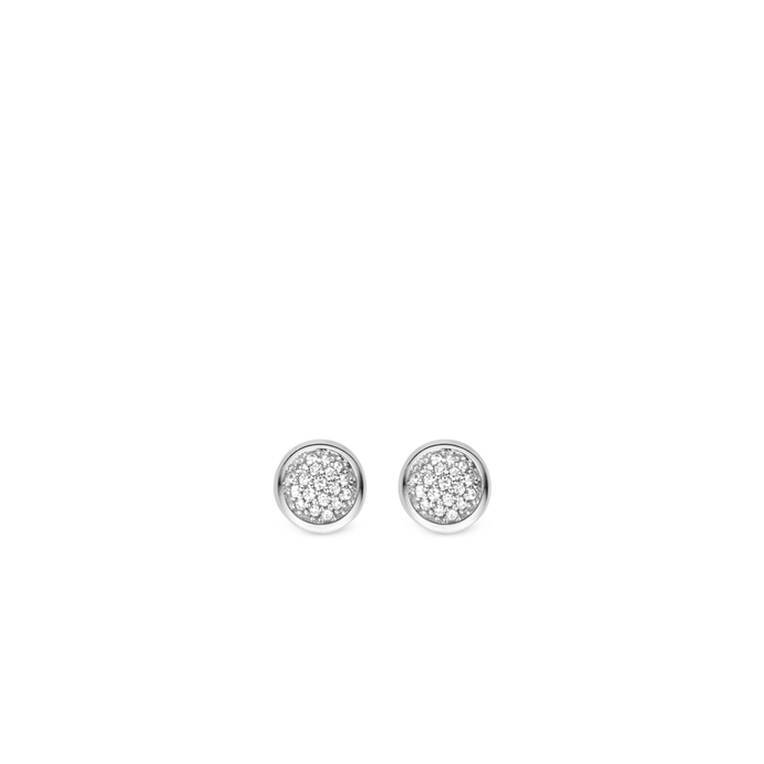 Ti Sento Sterling Silver Diamond Studs