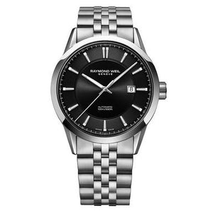 Freelancer Automatic Black Dial Stainless Steel Bracelet Watch, 42mm