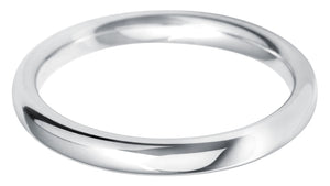 Classic court 2.5mm wedding ring with comfort fit in Platinum