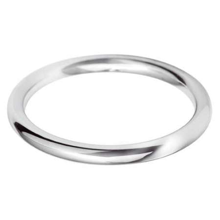 Classic medium court 2mm wedding ring with comfort fit in Platinum Ladies £395, Gents £475