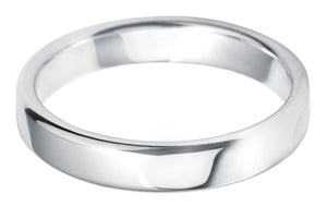 Classic court 4mm wedding ring with comfort fit in platinum