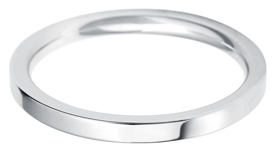 Classic Regular Flat court 2mm wedding ring with comfort fit
