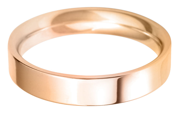 Classic Regular Flat court 4mm wedding ring with comfort fit.