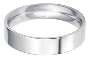 Classic Regular Flat court 5mm wedding ring with comfort fit.