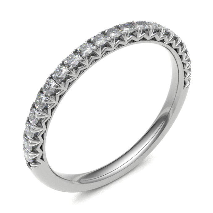 18ct White Gold 0.20ct Diamond 2.5mm Band