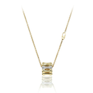 Chimento 18ct Yellow & Diamond Bamboo Necklace