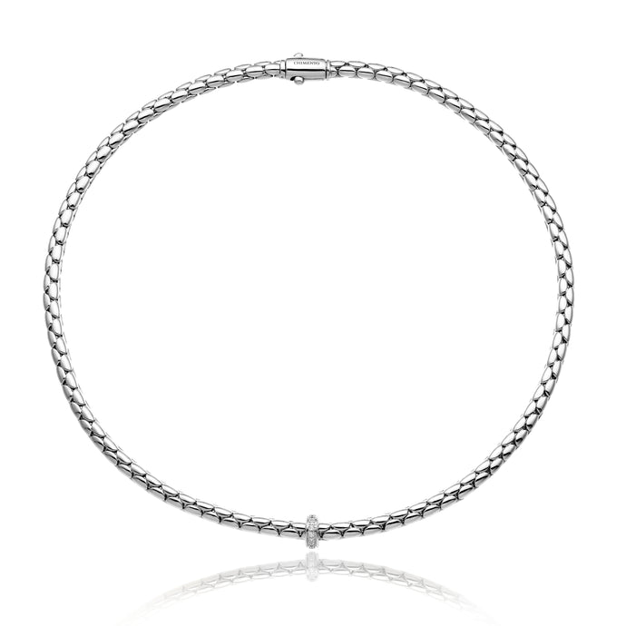 Chimento Stretch 18ct White Gold & Diamond Necklace
