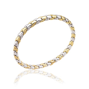 Chimento 18ct Two Tone Stretch Spring Bracelet