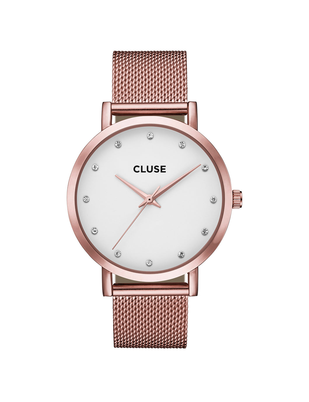Cluse Pavane Mesh White, Rose Gold Watch