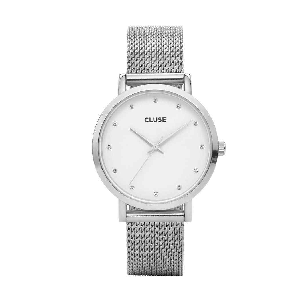 Pavane Mesh Silver Watch