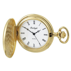 Burleigh Gold Plated Full Hunter Pocket Watch