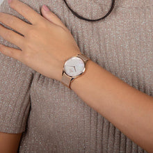 Load image into Gallery viewer, Obaku, mother of pearl dial with rose mesh bracelet.