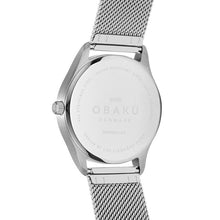 Load image into Gallery viewer, Obaku, watch, Blue dial, steel case and mesh bracelet.