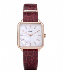La Tétragone Leather Red Alligator, Rose Gold Watch