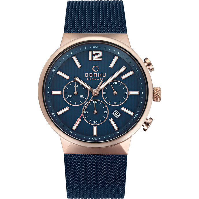 Obaku STORM - Ocean, Blue and brushed Copper colour