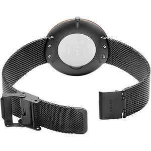 Obaku TRAE - Charcoal, slim mens watch