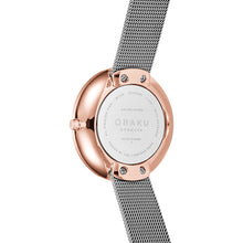 Load image into Gallery viewer, Obaku HASSEL NATUR - GRANITE with fine mesh bracelet
