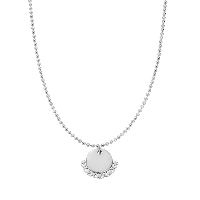 ChloBo Diamond Cut Adjuster Moon and Star Necklace