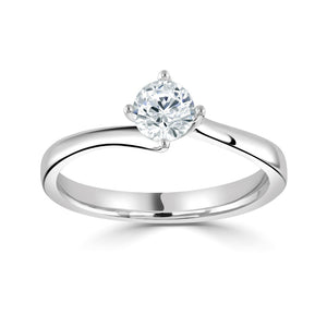 Platinum Diamond Solitaire 0.90ct