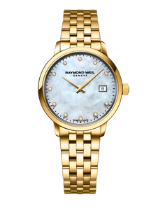 Raymond Weil Toccata Ladies Quartz Yellow Gold PVD 11 Diamond Watch