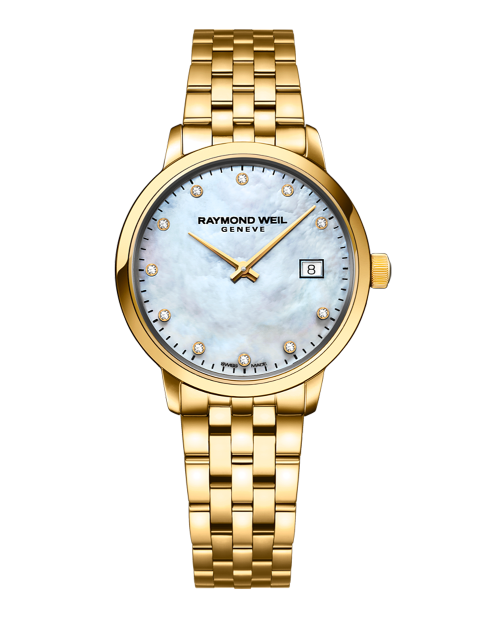 Raymond Weil Toccata Ladies Quartz Yellow 11 Diamond Watch