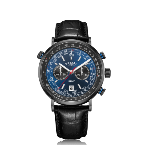 Rotary Henley Black IP Chronograph