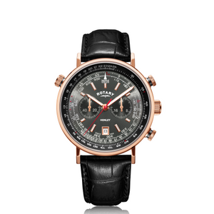 Rotary Henley Rose Gold PVD Chronograph