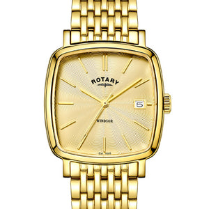 Rotary Men's gold plated Windsor Cushion watch