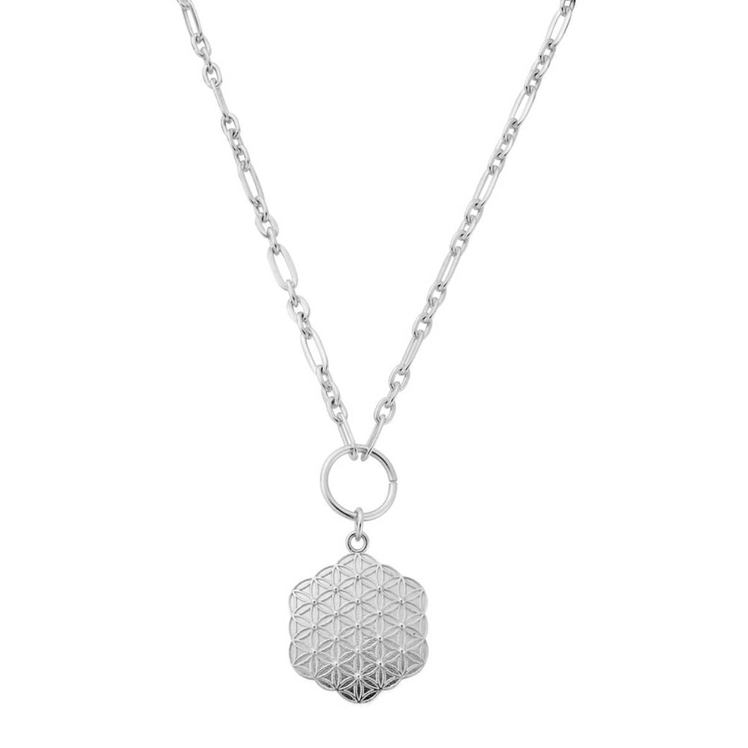 ChloBo Silver Flower of Life Necklace