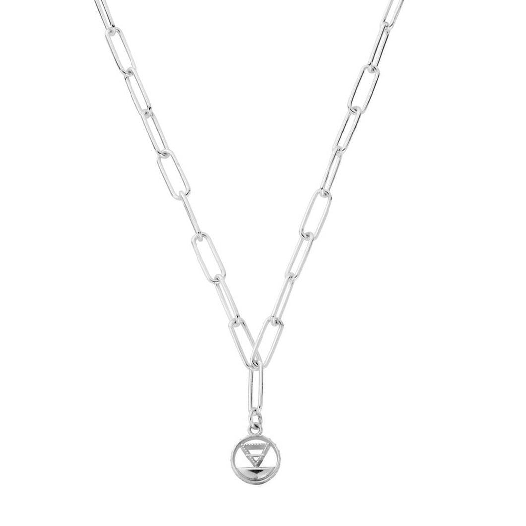 ChloBo Silver Link Chain Earth Necklace