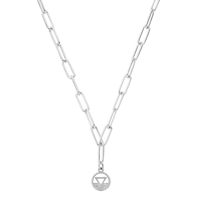 ChloBo Silver Link Chain Water Necklace